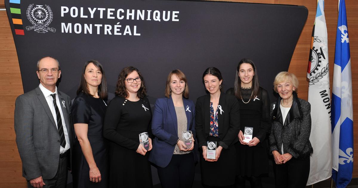 Philippe A. Tanguy, Nathalie Provost, Édith Ducharme, Viviane Aubin, Liane Bernstein, Ella Thomson, Michèle Thibodeau-DeGuire. (Photo: Denis Bernier)