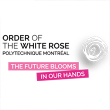 Logo of the Order of the White Rose of Polytechnique Montréal