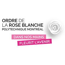 Logo de l'Ordre de la rose blanche de Polytechnique Montréal
