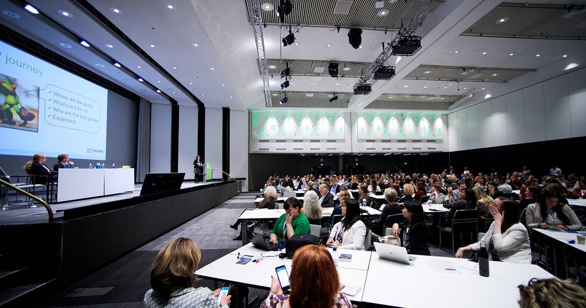 Séance de la 31e conférence de l'European Association for International Education (EAIE). Photo : EAIE)