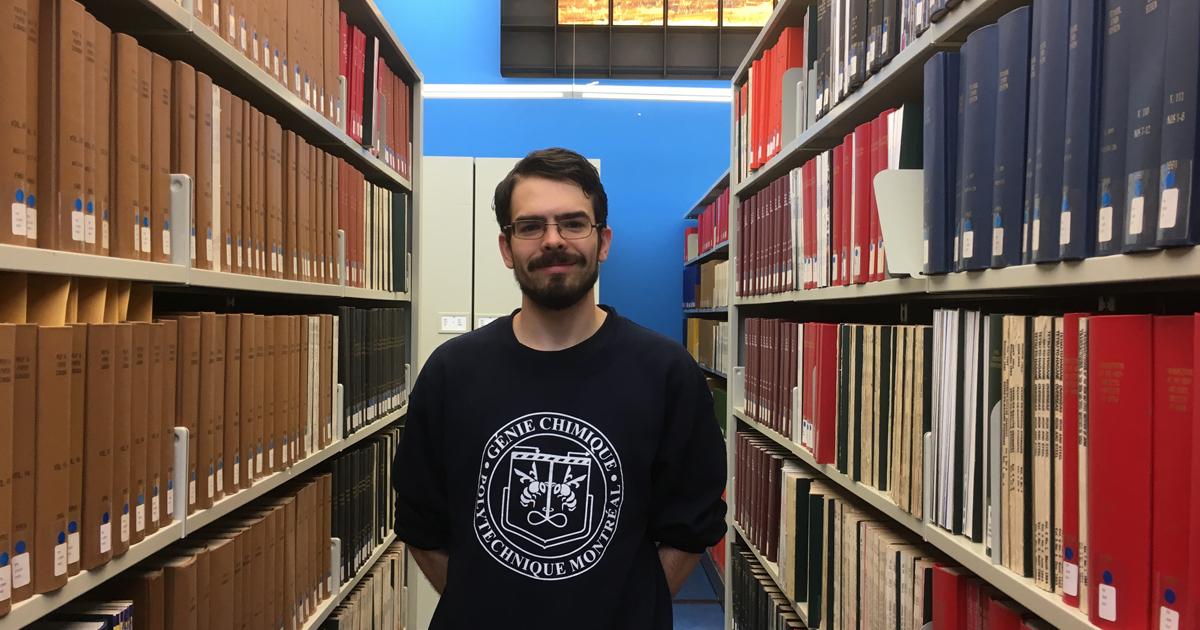 Olivier Gazil, étudiant à la maîtrise en génie chimique à Polytechnique Montréal.