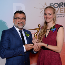 Marie-Ève Richard, étudiante à la maîtrise à Polytechnique, lauréate au gala universitaire Forces AVENIR 2019
