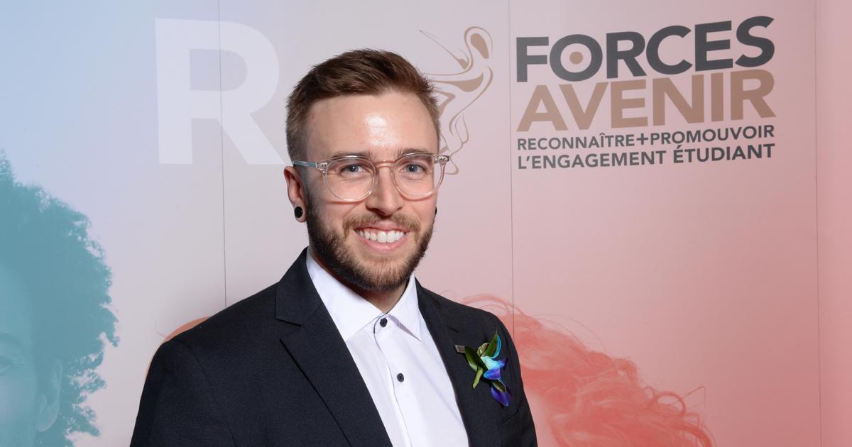 Manuel Klaassen, finaliste dans la catégorie « Personnalité 1er cycle ».