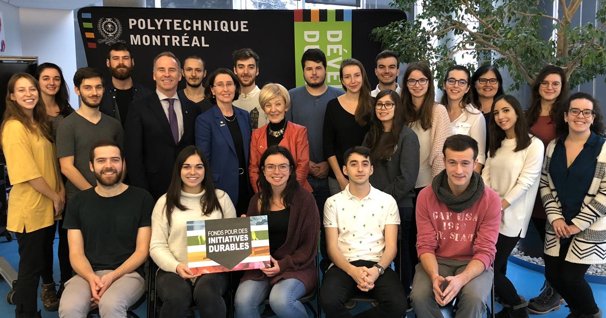 Lancement du Rapport de durabilité 2017-2018 et annonce des lauréats des bourses du Fonds pour des initiatives durables (FID) à Polytechnique Montréal