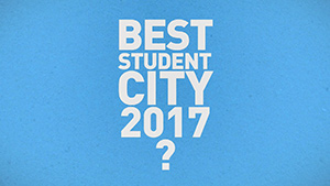 "Thumbnail of the video ""What is the best student city in 2017?"""