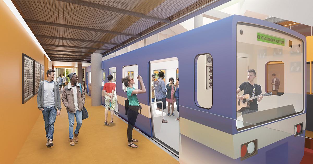 Rendu 3D de la Station Polytechnique-Alstom