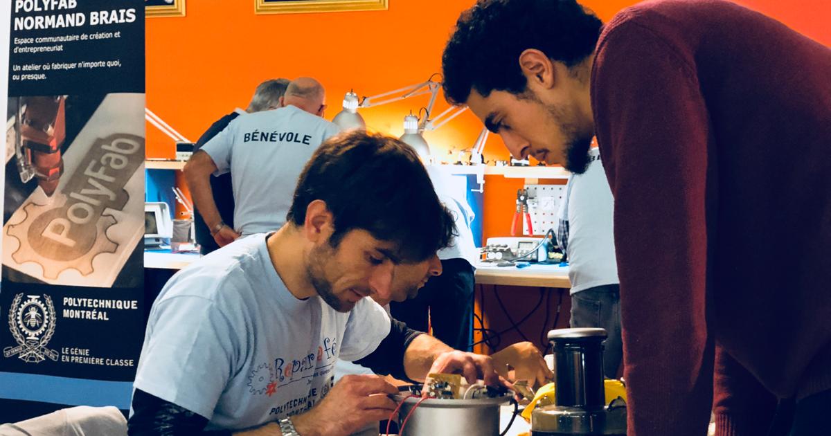 Atelier de réparation Repair café du 7 novembre 2018 à Polytechnique Montréal