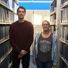 Robin Guay-Lord et Charlotte Van Engeland, étudiants aux cycles supérieurs à Polytechnique Montréal