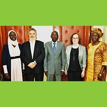 Les responsables du processus d'établissement d'une politique sectorielle de développement durable du secteur minier au Sénégal.