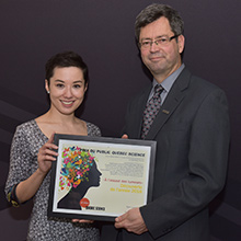 Professor Sylvain Martel and his team at the Polytechnique Montréal Nanorobotics Laboratory win the 2016 Québec Science Discovery of the Year People's Choice award