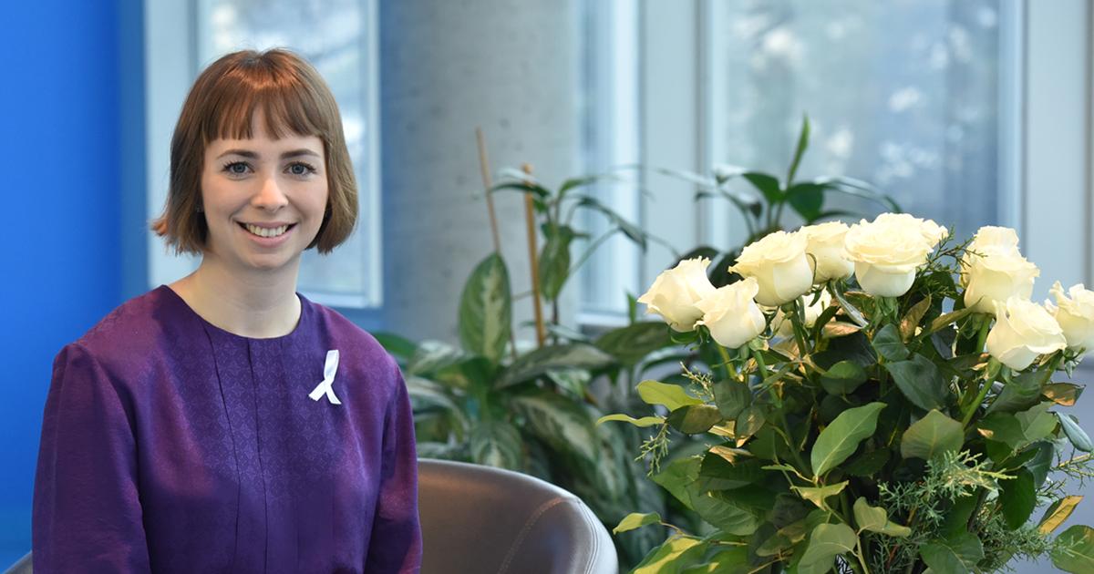 Viviane Aubin, quatrième lauréate de l'Ordre de la rose blanche