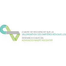 Logo de la Chaire de recherche sur la valorisation des matières résiduelles