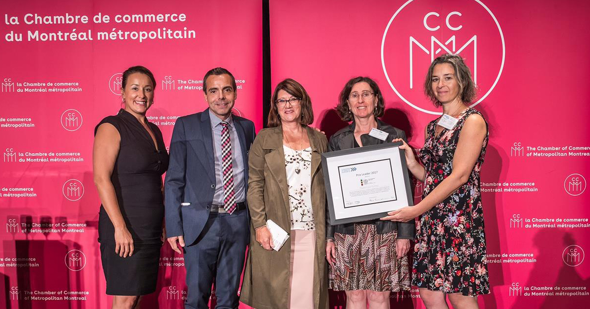 Remise du prix Leader en transport durable à Polytechnique Montréal
