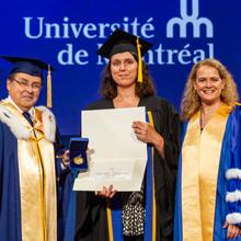 Dominique Claveau-Mallet, lauréate d'une Médaille d'or du Gouverneur général du Canada