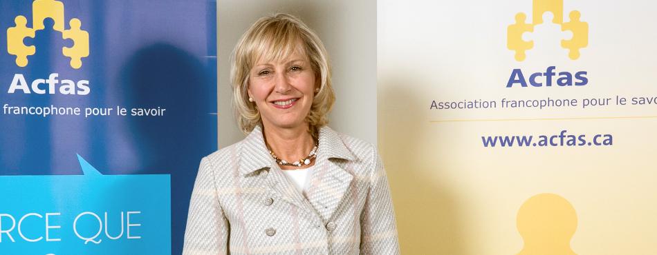 La professeure Michèle Prévost a reçu le prix Michel-Jurdant lors du 73e Gala de l'Asssociation francophone pour le savoir.