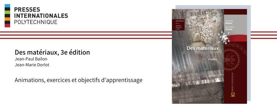 Des matériaux, 3e édition