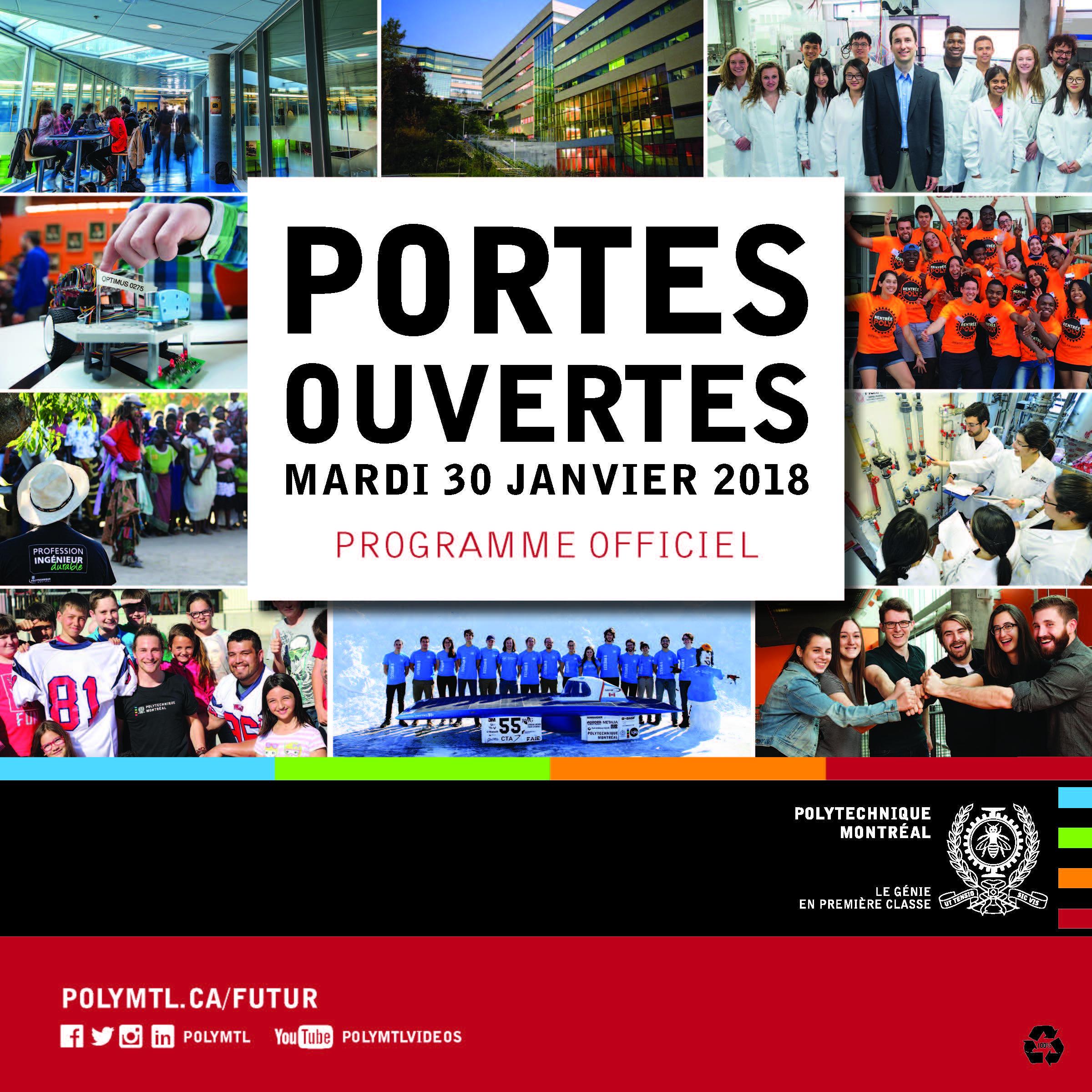 Portes ouvertes Polytechnique Montréal - Programme