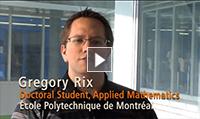 Gregory Rix, Doctorant, mathématiques appliquées (anglais)