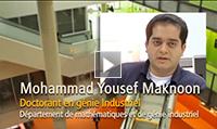 Mohammad Yousef Maknoon, Doctorant, en génie industriel (anglais)