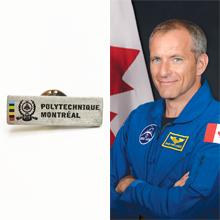 David Saint-Jacques emportera une épinglette de Polytechnique Montréal dans l'espace!