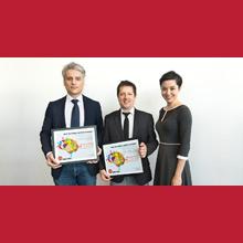La sonde anti-cancer, de Frédéric Leblond et Kevin Petrecca, remporte le prix de la Découverte scientifique de l'année 2017, remis par Québec Science!