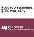 Logos de Polytechnique Montréal et de l'École nationale d'administration publique