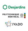 Logos de Desjardins, Polytechnique Montréal et IVADO