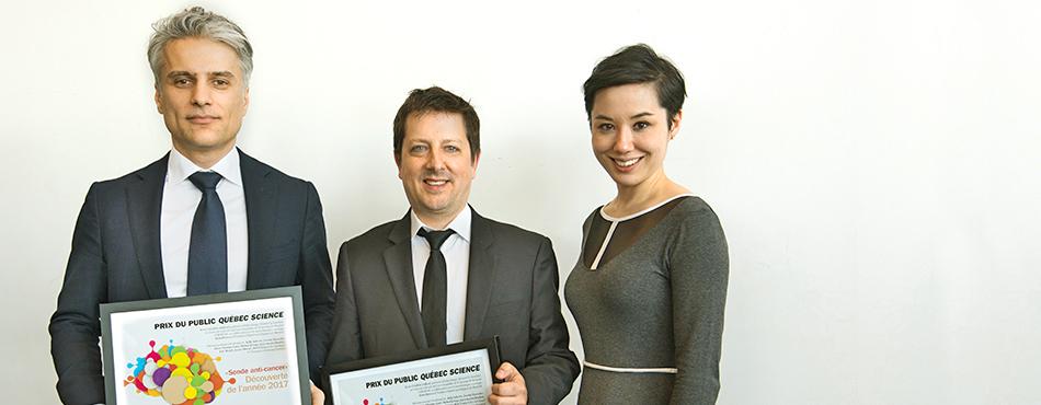 Kevin Petrecca, Frédéric Leblond et Marie-Lambert Chan