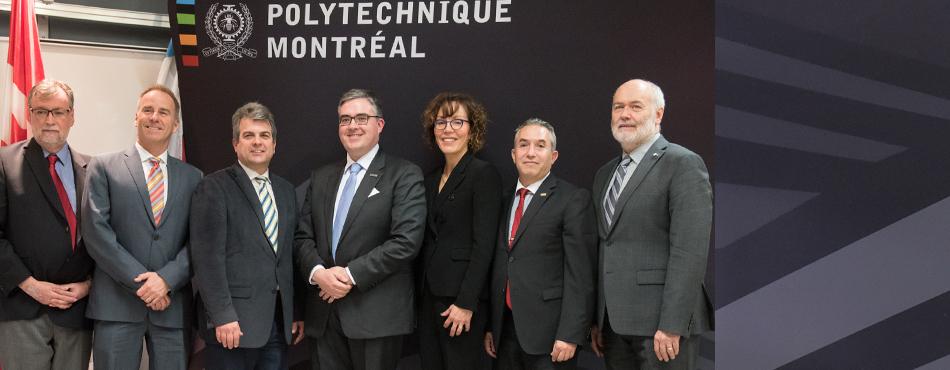 La Chaire de recherche industrielle CRSNG-Hydro-Québec-Schneider Electric en optimisation des réseaux électriques intelligents a été inaugurée à Polytechnique Montréal
