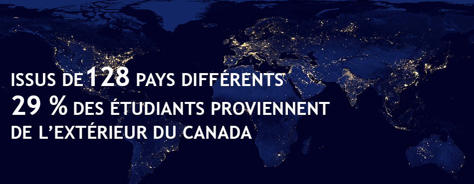 29% des étudiants de Polytehcnique Montréal proviennent de l'extérieur du Canada