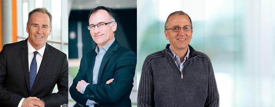 François Bertrand, Carl-Éric Aubin et Yvon Savaria