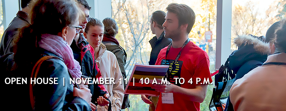 Open House at Polytechnique Montréal on November 11, 2018, from 10 A.M. to 4 P.M.
