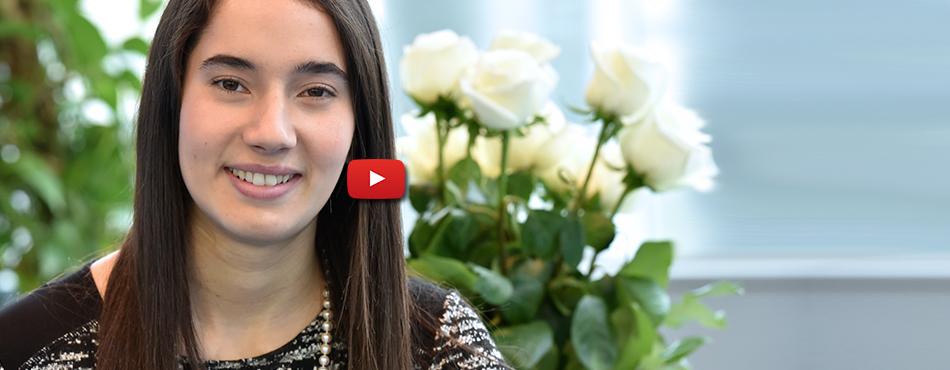 Ella Thomson, lauréate de l'Ordre de la rose blanche 2017.