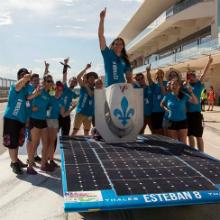Le véhicule solaire Esteban 8 arrive en 3e place du Formula Sun Grand Prix 2017